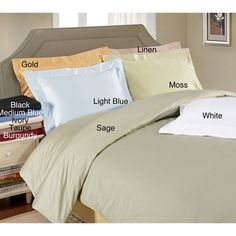 @Overstock - Sleep in the lap of luxury with these comfortable duvet covers. Made of 100-percent Egyptian cotton, these covers are soft, with a satiny feel. Their button closures make for easy maintenance, and their many different colors add brightness to your bed.http://www.overstock.com/Bedding-Bath/Egyptian-Cotton-650-Thread-Count-Duvet-Cover-Set/3310416/product.html?CID=214117 $69.99