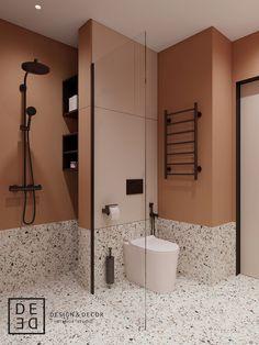 DE&DE/Apart hotel in the heart of Saint-Petersburg on Behance Bathroom Design Luxury, Modern Bathroom, Small Bathroom, Modern Interior, Interior Architecture, Toilet Design, Bathroom Inspiration, Terrazzo, Home Deco