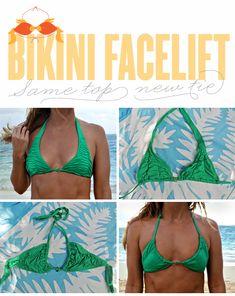 bikini facelift - new way to tie your halter tops