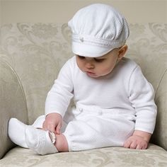 Adorable christening outfit for a boy