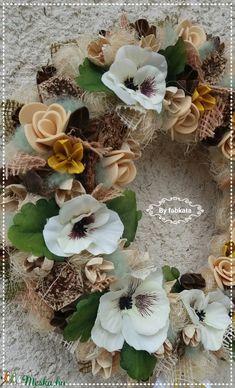 Vintage pasztell tavaszi kopogtató ajtódísz (fabkata) - Meska.hu Floral Wreath, Wreaths, Vintage, Home Decor, Floral Crown, Decoration Home, Door Wreaths, Room Decor, Deco Mesh Wreaths