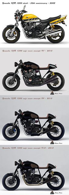 Yamaha XJR 1300 - from stock to cafe racer concept