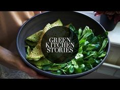 Spinach Crêpes with Chickpea, Apple & Tahini Filling || Green Kitchen Stories