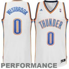 33d9d42a76 Russell Westbrook Oklahoma City Thunder Adidas Home White Swingman Jersey
