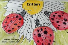 Painted and researched one of God's critters - ladybugs. Painting done in watercolour pencils and pen Watercolor Pencils, Watercolour, You Are Blessed, Little Critter, Ladybugs, Scribble, Joy, Group, Website