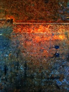 Rusty Ship in Kolobrzeg, natural painting - Abstract Art