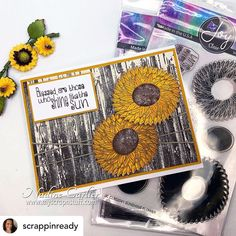 Posted @withregram • @scrappinready My card I made for the @joyclairstamps 5th anniversary blog hop. • • #crafts #scrap #papercraft #papercrafts #papercrafting #papercrafter #handmadecard #handmadecards #card #cards #cardmaking #greetingcard #greetingcards #cardmakinghobby #cardideas #cardmakingideas #cardmaker #scrapcard #makingcards #diycards #cutecards #cutecard #carddesign #joyclairstamps #imaginecrafts #tsukineko #sunflowercard #sunflower #joyclairdesigns #clearstamps Cute Cards, Diy Cards, Craft Tutorials, Craft Projects, Sunflower Cards, Spring Is Here, Card Maker, Clear Stamps, Greeting Cards Handmade