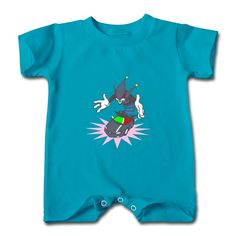 Clown In The Car Turquoise Cute T-romper For Baby High Quality-Funny Clothing shop from HICustom.net .24 hour service available.