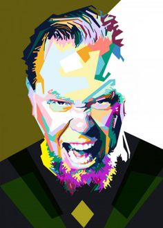 """Beautiful """"James Hetfield style in wp"""" metal poster created by Sobri Alkavie. Our Displate metal prints will make your walls awesome. Pokemon Chart, Metallica Art, James Hetfield, Thrash Metal, Arte Pop, Poster Making, New Artists, Cool Artwork, Poster Prints"""