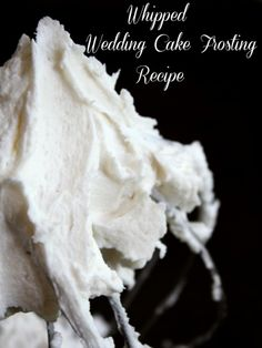 This whipped wedding cake frosting recipe is creamy, light, and holds up well to decorating, transporting, and warm temps. RestlessChipotle.com