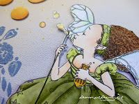 Copic Deutschland Blog: Fairy Tabia  - ein Bild im Mixed Media Stil