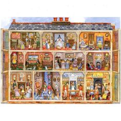 Picture of Victorian Doll House Jigsaw Puzzle 1000pc @ Images Nation dot com