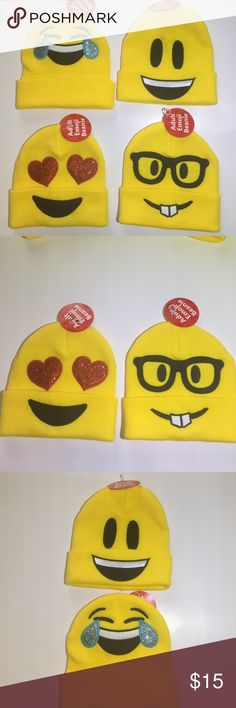 New Emoji Beanie!     -brand new with tags! -adult emoji beanie -one size fits all -choose your favorite emoji! Accessories Hats