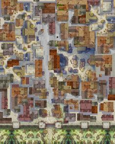 A Mess of a City Map (Talos save me) - battlemaps Fantasy City Map, Fantasy World Map, Dungeons And Dragons Homebrew, D&d Dungeons And Dragons, Rpg City, Dnd World Map, Pathfinder Maps, Village Map, Rpg Map