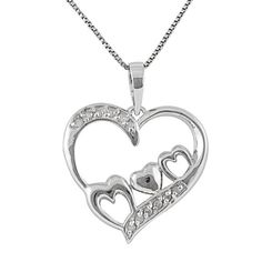 I am absolutely in love with the Sterling Silver 1/10 cttw Diamond MOM Heart Pendant from #jewelexclusive