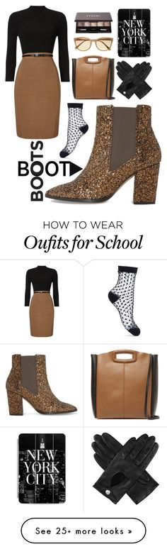 """""""Kick It: Old School"""" by jazzola-19 on Polyvore featuring Phase Eight, Maje, Vince Camuto, Dents, Casetify, Dune, By Terry and Miss Selfridge"""