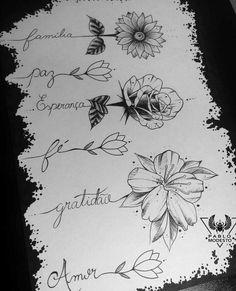 Flowers flower Tattoo tattoostencil stencil outlines marker fineliner Blackink i. Mini Tattoos, Word Tattoos, Flower Tattoos, Body Art Tattoos, Small Tattoos, Flower Outline Tattoo, Daisies Tattoo, Name Flower Tattoo, Rose Tattoo With Name