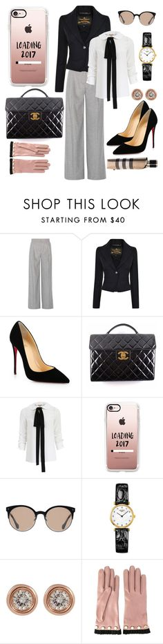 Clothed in Strength & Dignity by boutiquebrowser on Polyvore featuring Michael Kors, Vivienne Westwood Anglomania, Karl Lagerfeld, Christian Louboutin, Chanel, Longines, Ron Hami, Casetify, Gucci and Burberry