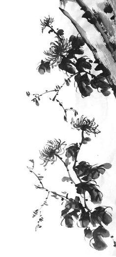 Chrysanthemum With Stone Painting