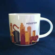 Houston Starbucks Mug You are Here Collection. Features Iconic Houston Skyline. Photos are of actual item you will receive. Send a message and I'll get right back to you. Holds 14 fl.