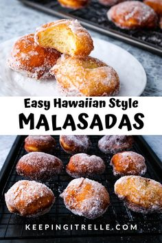 Easy Hawaiian style malasadas are deep fried and rolled in sugar creating a light and fluffy donut. Perfect for Malasada day here in Hawai'i or anytime of year. Easy Malasadas Recipe, Malasadas Recipe Hawaii, Malasadas Recipe Portuguese, Hawaiian Desserts, Hawaiian Dishes, Hawaiian Dessert Recipes, French Dessert Recipes, Slow Cooking, Cooking Recipes
