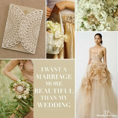 Pantone's Sand Vintage Wedding Inspiration #wedding #vintage #pantonespring2014 #sand #spring
