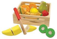 Melissa & Doug® Cutting Fruit Set - Wooden Play Food Kitchen Accessory #ad