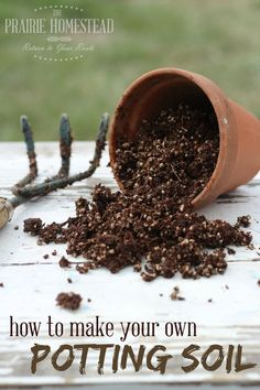 It took me forever to realize how easy homemade potting soil was to make! This one only has 3 ingredients, and you can easily substitute.