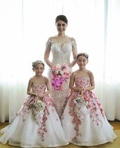 Girls Dresses, Flower Girl Dresses, Formal Dresses, T 4, Ball Gowns, Bride, Instagram, Daughters, Fashion