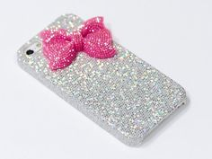 Pandamimi ULAK(TM) Deluxe Sweety Girls Case Cover Decorated Bling Glitter Bow for iPhone 5 (Silver/Red):Amazon:Cell Phones & Accessories