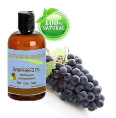 Botanical Beauty Grapeseed Oil, 100% Pure/ Natural, Cold Pressed. For Face, Hair and Body... 8 oz-240 ml by Botanical Beauty. $24.95. Bottle with disc top cap. Botanical Beauty Grapeseed Oil is properly packaged in a dark bottle to protect the antioxidant properties from light.. For dry, damaged or aging skin. Regenerative and restructuring qualities for skin, hair, and nails.. 100 % Pure,100% natural, Chemical Free, A Little Goes a Long Way, Absorbs Quickly, Unscent...