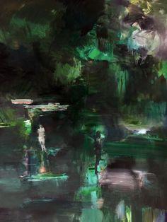 "Juliano Kaglis, ""The fountain"", oil on canvas, 180x130cm"