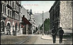 Hordaland fylke Bergen fargekort Olaf Kyrres gate, utg. C.A.Erichsen Bergen postgått 1912