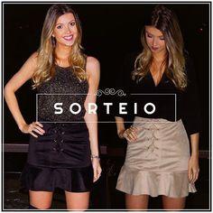SORTEIO  Sorteio de lançamento da loja HOLI com nossa saia de suede ⒹⒾⓋⒶ! Para participar é muito fácil, siga os passos: 1️⃣ Curta essa foto; 2️⃣ Siga @holifashionstore; 3️⃣ Indique 3 amigas nos comentários e fale qual das cores da saia você quer (preto ou cinza). Sorteio válido até o dia 05/06. Comente quantas vezes quiser!  Boa sorte meninas! Sorteio válido para todo Brasil.  #myHoliFashion #myHoliFashionSorteio #saiasuede