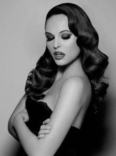 long finger wave pin up girl hairstyles - http://hairstylee.com/long-finger-wave-pin-up-girl-hairstyles/?Pinterest