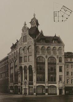 Am Spittelmarkt 16-17 Ecke Leipziger stand das Warenhaus Jandorf, der Architekten Ascher & Muenchow, Foto um 1892.