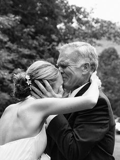 everybody talks about a pic of when the groom first sees the bride but don't forget about a pic when Dad first sees her!