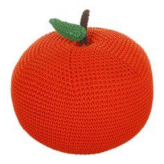Giant Crocheted Apple Pouf