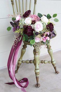 Wedding Flower Arrangements Mauve and Deep Eggplant Wedding Bouquet Romantic Wedding Receptions, Romantic Weddings, Wedding Themes, Wedding Colors, Wedding Tips, Wedding Designs, Aubergine Wedding, Mauve Wedding, Wedding Flower Arrangements