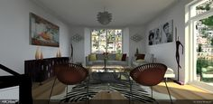 Another view of the beautiful interior created by the 2012 Lightworks image competition winner, Indira Wisepart. The 'Audrey Flat' was create using Cadline's ARCHLine.Xp with its integrated Lightworks rendering engine.