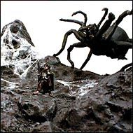 Créer un diorama avec Arachnée et Frodon - Le Seigneur des Anneaux http://alaric.debalaison.fr/lotr/arachnee.php