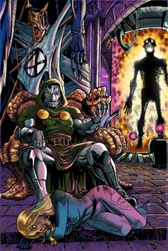 This piece features Julian McMahon as Doctor Doom from Fantastic Four, and was crafted using Prisma color pencils. Julian McMahon as Doctor Doom Dr Doom Marvel, Marvel Vs, Marvel Heroes, Marvel Comic Universe, Marvel Comics Art, Marvel Comic Character, Marvel Characters, Character Art, Comic Books Art