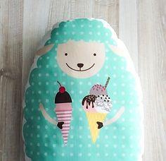 Lamb pillow kids pillow animal pillow kids throw by BeTheOriginal