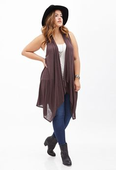 Draped Heathered Knit Vest #F21Plus ~~ Perfect for summer or fall   Forever 21