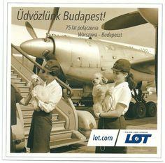 LOT Polish Airlines Postcard