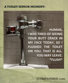 The Toilet Sensor speaks...and it's a jerk!