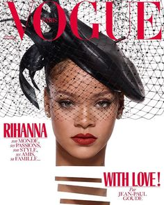 And the special guest editor of the Christmas issue is Rihanna! For our December issue Rihanna was the only girl in the world. At just 29 years old now fashion designer singer-songwriter international businesswoman and now a Vogue Paris guest editor her success is seemingly limitless. Our cover star is shot by Jean-Paul Goude; filled with the fun and personalities of the two incredible artists on newwstands December 1. Shot by Jean-Paul Goude styled by Aleksandra Woroniecka hair by Yusef…