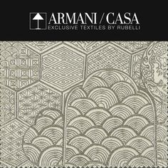 Italian fashion brands: Armani Casa exclusive textiles by Rubelli | Milan Design Agenda