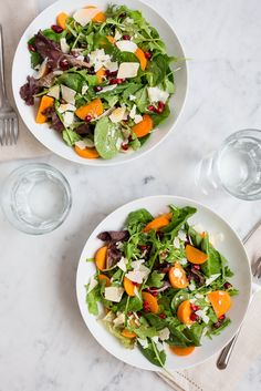 Persimmon and Pomegranate Salad / See and Savour