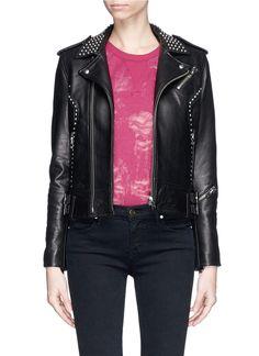 IRO 'Wenda' stud leather biker jacket